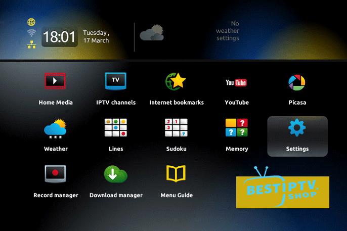 IPTV Step 1 setup MAC device 1 - How to setup IPTV MAG device